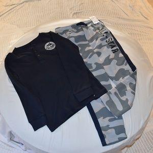 Boys Long Sleeve shirt and sweatpants